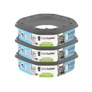 RAMASSE CROTTE LITTER LOCKER Plus Lot de 3 recharges pour poubell