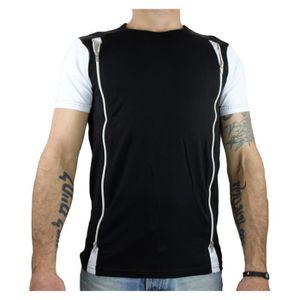 T-SHIRT T-shirt homme avec zip noir
