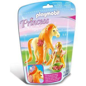 UNIVERS MINIATURE PLAYMOBIL 6168 Princesse Mimosa avec cheval à coif