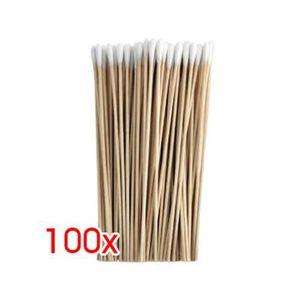 DISTRIBUTEUR DE COTON 100 pcs Six pouces en Coton de bois mince Coton-ti