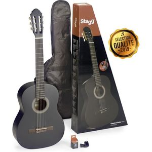GUITARE STAGG C440 M BLK PACK Pack comprenant 1 guitare cl