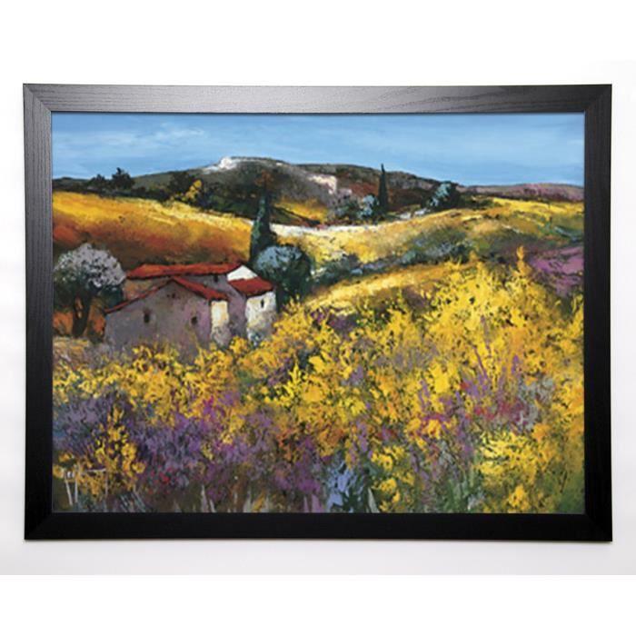 KEIFLIN ROGER Image encadrée La bergerie dans les genêts 57x77 cm Multicolore