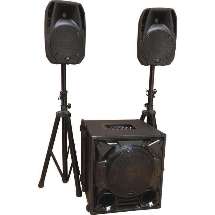 IBIZA CUBE1100-BT Système de sonorisation triphonique 2.1 12''/30cm 1100w - Noir