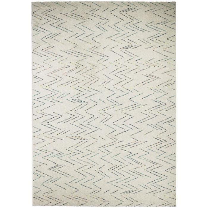 FAIRMONT Tapis contemporain - 120X170 cm - Crème