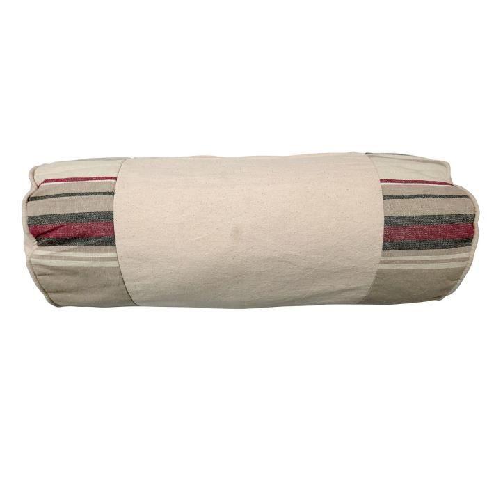 SOLEIL D'OCRE Coussin polochon Stripes 20x50 cm taupe