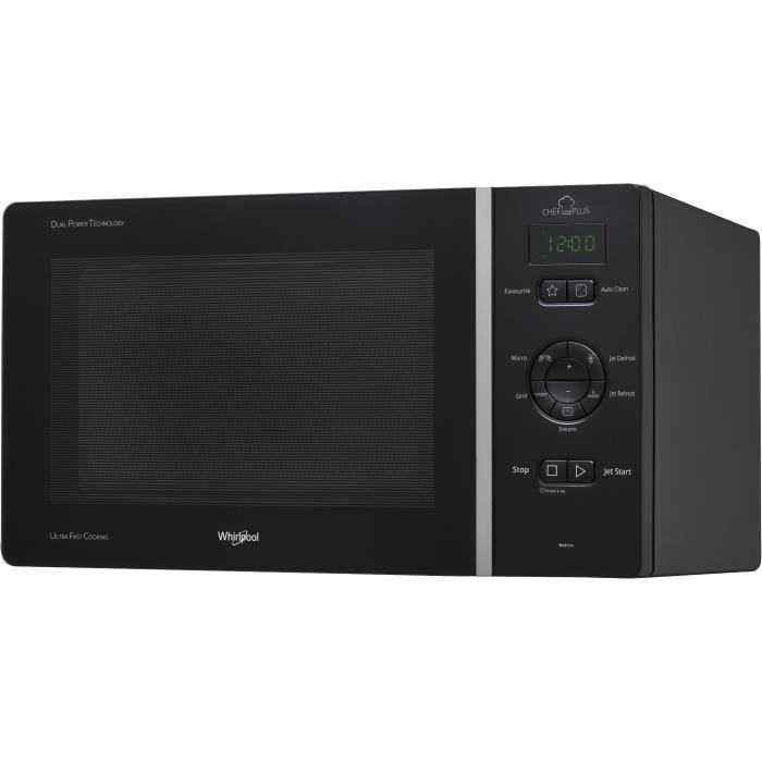 WHIRLPOOL MCP344NB - Micro-ondes posables, gril, CHEF PLUS, 25L, 800 W