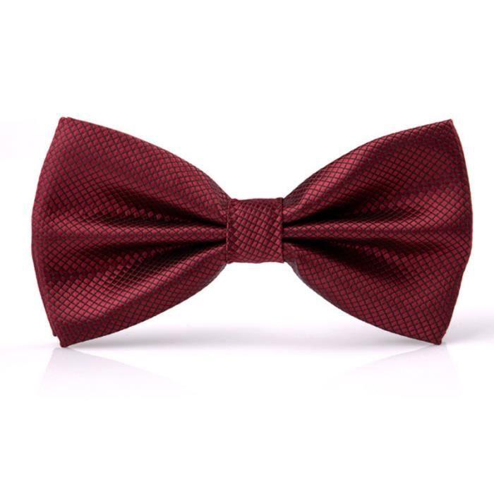 877b71d139368 Cravate Noeud Papillon Homme Mode Rouge Vin rouge - Achat / Vente cravate - nœud  papillon 2009348344683 - Soldes d'été Cdiscount
