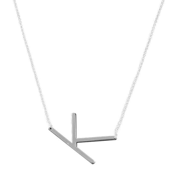Benjanies®Grand lettre K colliers Pendentifs acier inox Nouveaux bijoux  mode pour les femmes_XMM9114326
