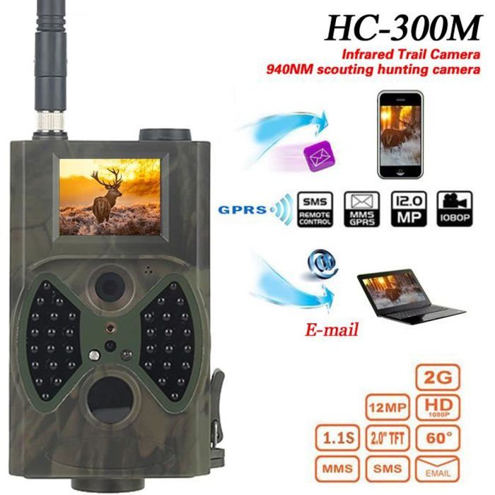 Cam ra de chasse hc 300m gprs mms e mail pour observation - Camera chasse gsm ...