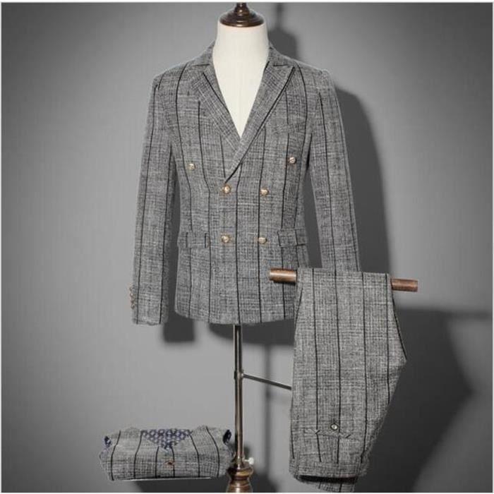 Pièces Robe Mariée Slim Costume Pantalon Homme Veste De Trois Et zYPqd1w0