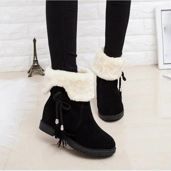 4daeca9c89bda2 Bottes de neige Bottes de cheville d'hiver Chaussures de femme ...