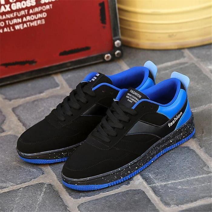 Baskets homme chaussures personnalité résistantes à l'usure Poids Léger Cool 2018 ClassiqueDurable Sneakers Style Noir Noir - Achat / Vente basket  - Soldes* dès le 27 juin ! Cdiscount