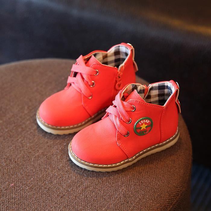 Bottes de neige pour enfants épaississement chaud chaussures en coton chaussures pour enfants 21-30 size