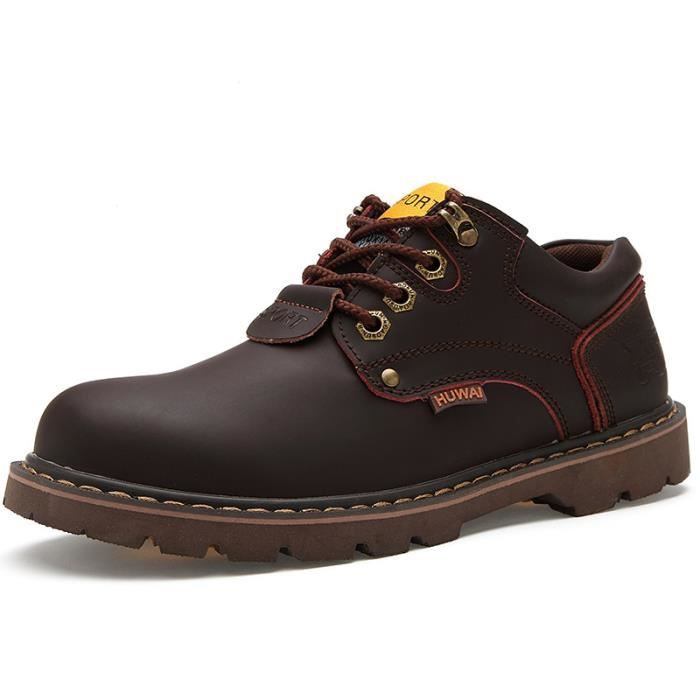 JOZSI Chaussures Homme Cuir Confortable mode Homme chaussure de ville LKG-XZ209Marron38