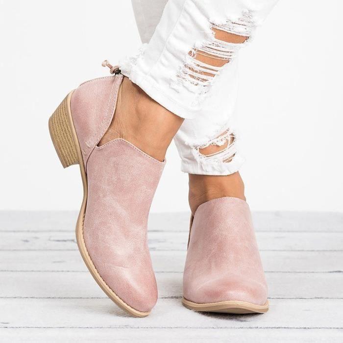 BOTTE Femmes dames chaussures d'automne mode cheville en
