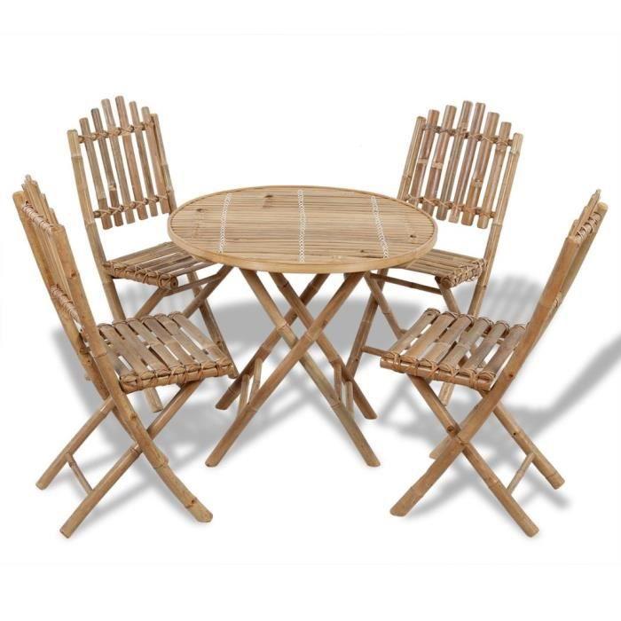 Table de jardin bambou - Achat / Vente pas cher