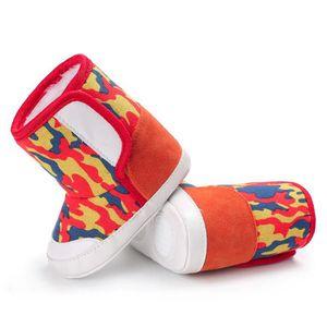 Napoulen®Camouflage bébé semelle molle bottes de neige Soft berceau chaussures tout-petits ROUGE-NYZ0926095 iHMz3E