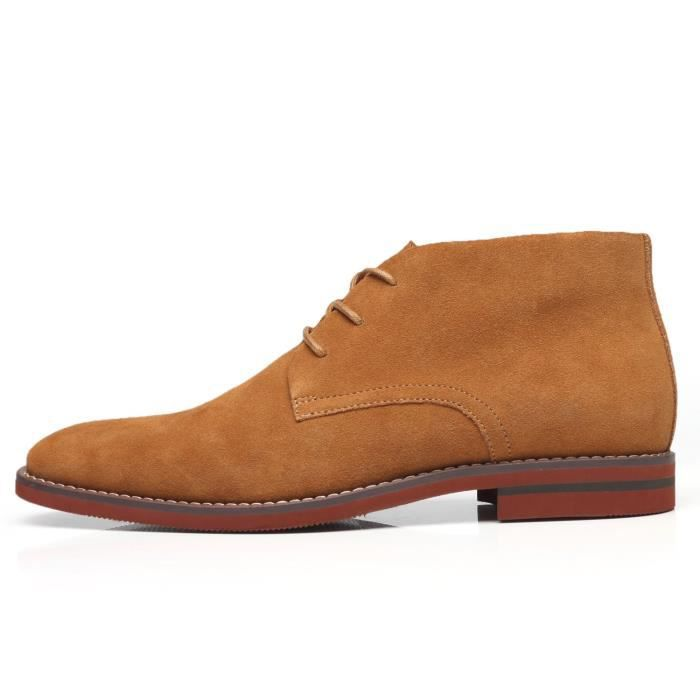 Dress Shoes Suede Chukka Ankle Boots Leather Shoes Modern Classic Casual Oxford Dress Boots For Men LACB0 Taille-46