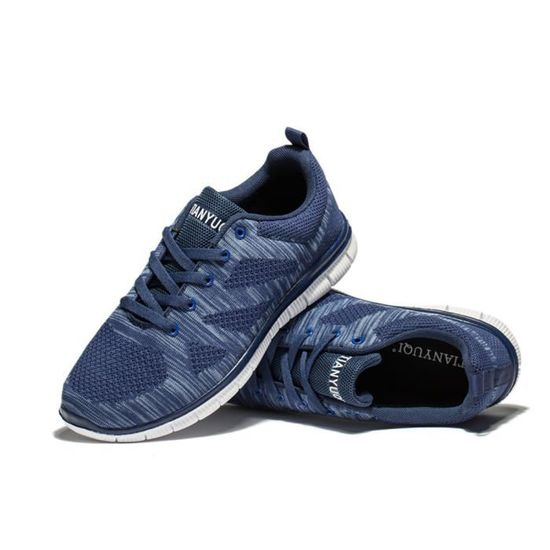Chaussures luxury homme sport Grande Taille luxury Chaussures sneaker marque de luxe mocassin hommes Confortable Durable Antidérapant Nouvelle Mode Bleu Bleu - Achat / Vente basket 913cc5