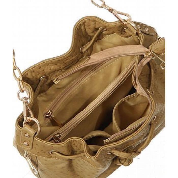 Crossbody Bucket « » autruche Imprimer épaule sac fourre-tout XLM8T