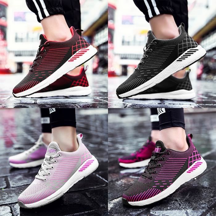 Chaussures De Sport Pour Femme en daim Textile De Course Populaire BBDG-XZ127Rouge36 KJmR0GaB5o