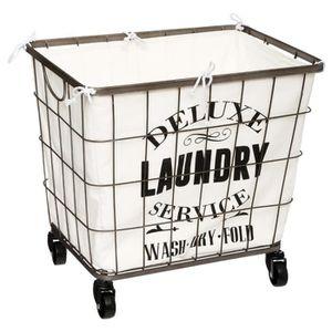 panier a linge sale a roulettes achat vente pas cher. Black Bedroom Furniture Sets. Home Design Ideas