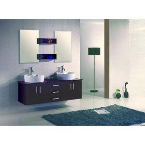 Meuble salle de bain wenge - Achat / Vente pas cher