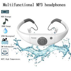 LECTEUR MP3 MP3 Etanche Natation IPX8 Portable Lecteur MP3 Eta