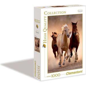 PUZZLE CLEMENTONI Puzzle 1000 pièces Chevaux sauvages