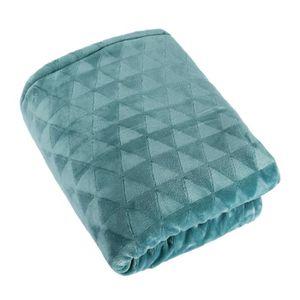 plaid bleu achat vente plaid bleu pas cher cdiscount. Black Bedroom Furniture Sets. Home Design Ideas
