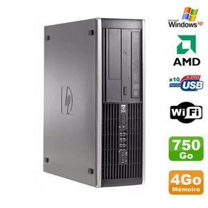 UNITÉ CENTRALE  PC HP Compaq 6005 Pro SFF AMD 3GHz 4Go DDR3 750Go