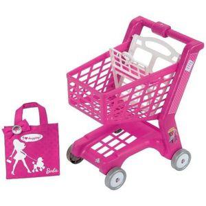 MARCHANDE Barbie - Chariot de supermarché avec cabas