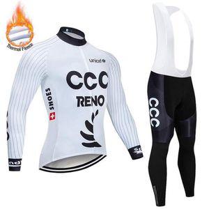 MAILLOT DE CYCLISME CCC Hiver molleton thermique de cyclisme pour les