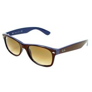 LUNETTES DE SOLEIL Wayfarer 2132 brun/bleu-v.dégradé Taille MS (52mm)