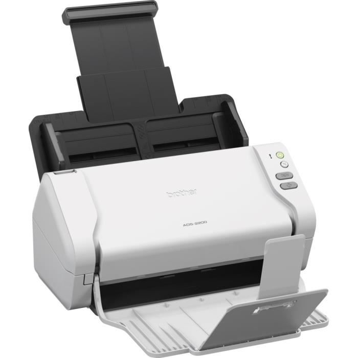 BROTHER ADS-2200 Scanner de documents bureautique - Recto-Verso - 35 pm/70 ipm - Chargeur ADF 50 f