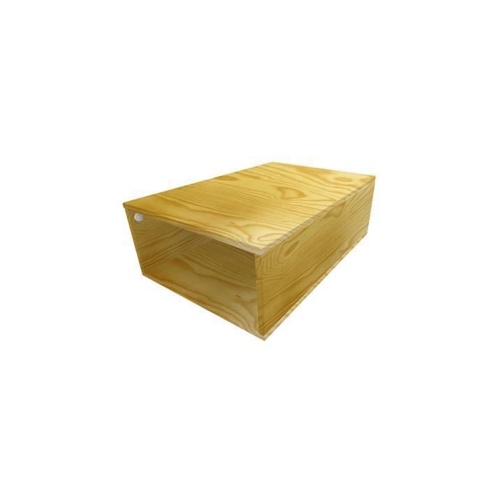 cube de rangement bois profondeur 75 cm couleur miel achat vente petit meuble rangement. Black Bedroom Furniture Sets. Home Design Ideas