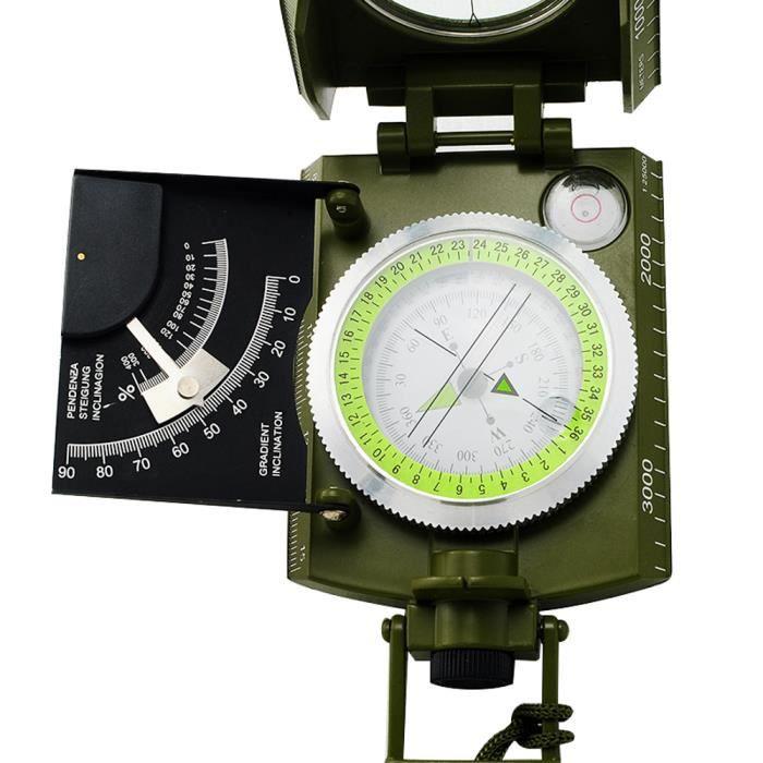 BOUSSOLE - COMPAS Militaire Niveau Visée Boussole Compas Navigation