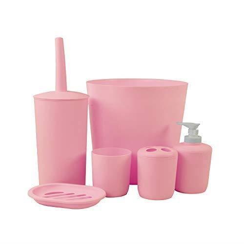 DRULINE 6 pièces salle de bain rose définie 5254-2