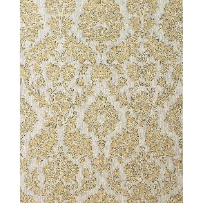Papier Peint Style Baroque Edem 708 30 De Couleur Champagne Or