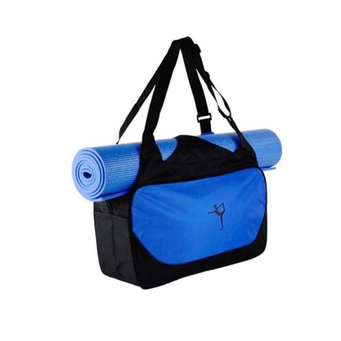 3b32e3a757 Sac de Sport pour Tapis de Yoga Sac d'épaule Etanche Pilates Fitness Tapis  Sac de Transport Bleu