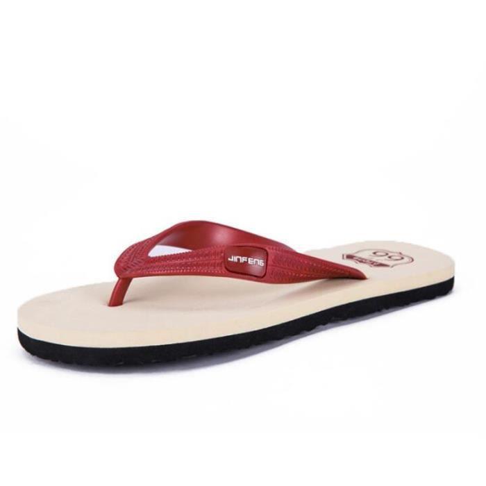 hommes plages homme nouvelle marque de luxe chaussure pantoufle salle de bain agréable sandales en cuir homme p3KRV