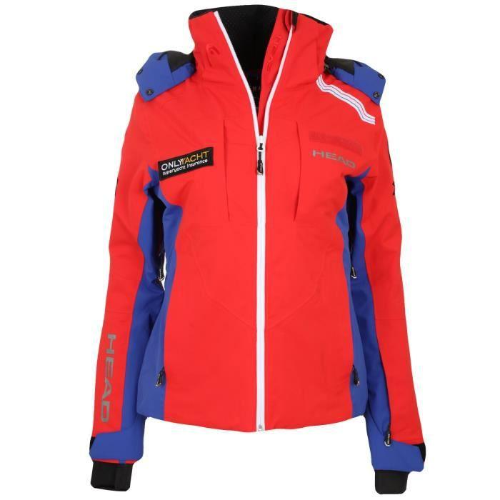 11cn Veste Rouge Ski 1850 Rd Esf Jacket Head Hiver 824445 Femme nfqOvnw