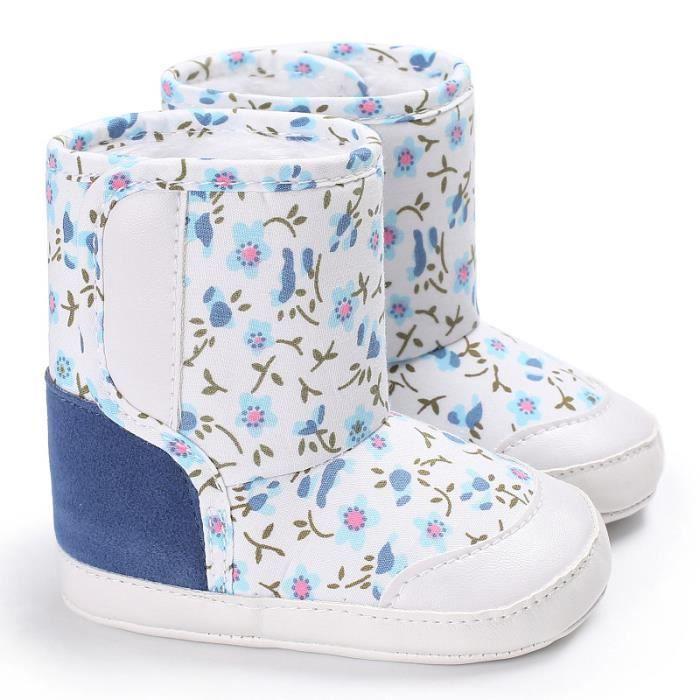 Napoulen®Camouflage bébé semelle molle bottes de neige Soft berceau chaussures tout-petits BLEU CLAIR-NYZ0926094