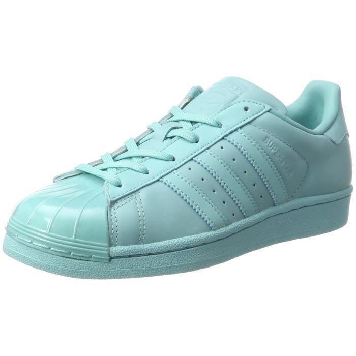 aab7132643423 Adidas baskets femme superstar brillante à lowtop, turquoise (easmin ...