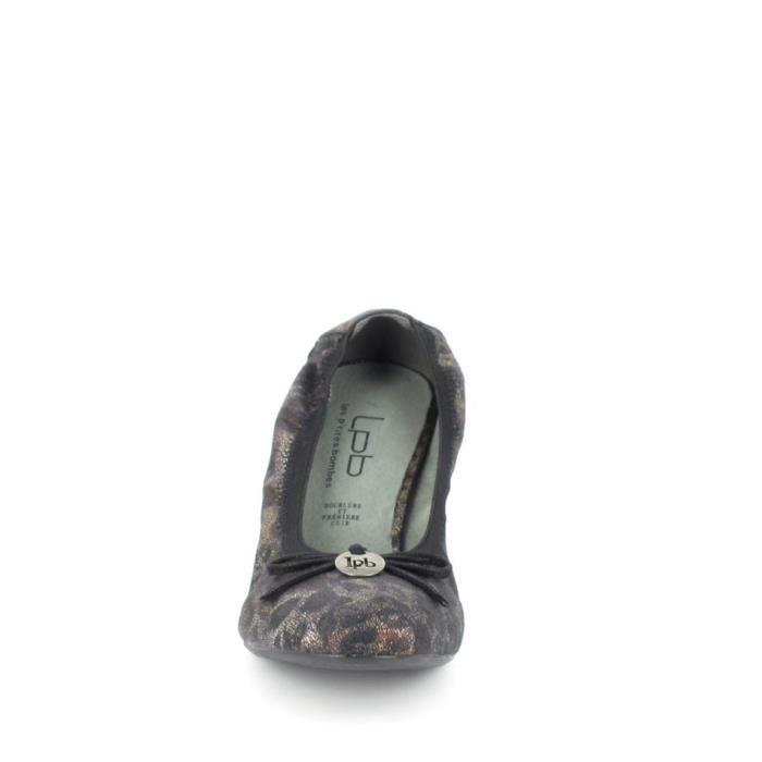 Chaussure de ville LPB Escarpin Ava Noir Imprimé