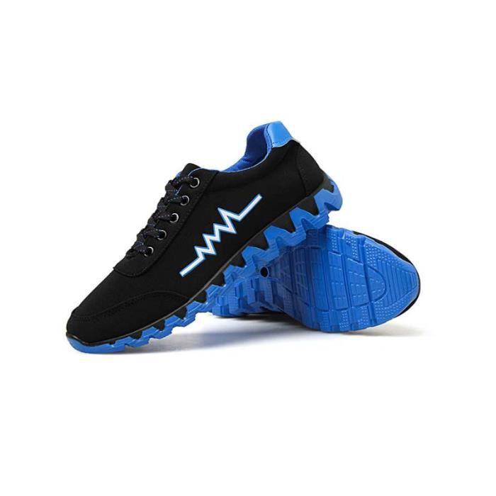 vérifiez Basket Noir bleu course taille Casual Homme Chaussures la Chaussures Masculines de Respirante fqfSrw