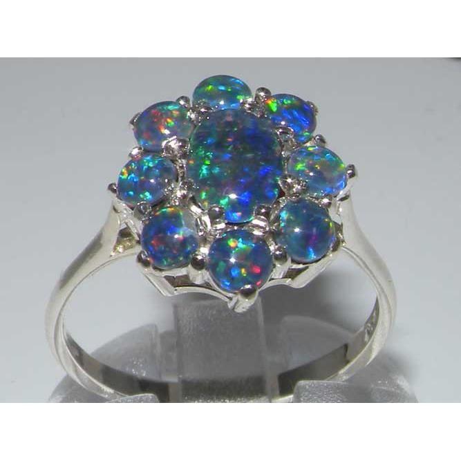 Bague pour Femme en Argent fin 925-1000 sertie d Opale- Tailles 50 à 64