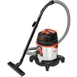 BLACK DECKER Aspirateur eau et poussi re 1400 W cuve 20 L en inox avec prise pour outil électroportatif