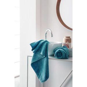 FINLANDEK Set de 2 Serviettes de toilette KYLPY 50x100 cm bleu pétrole
