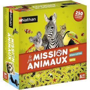 NATHAN Jeu de Société Mission Animaux